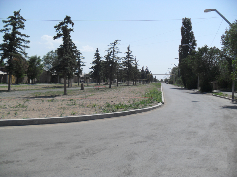 Recovery of the Street. Bulvar in  Gyumri