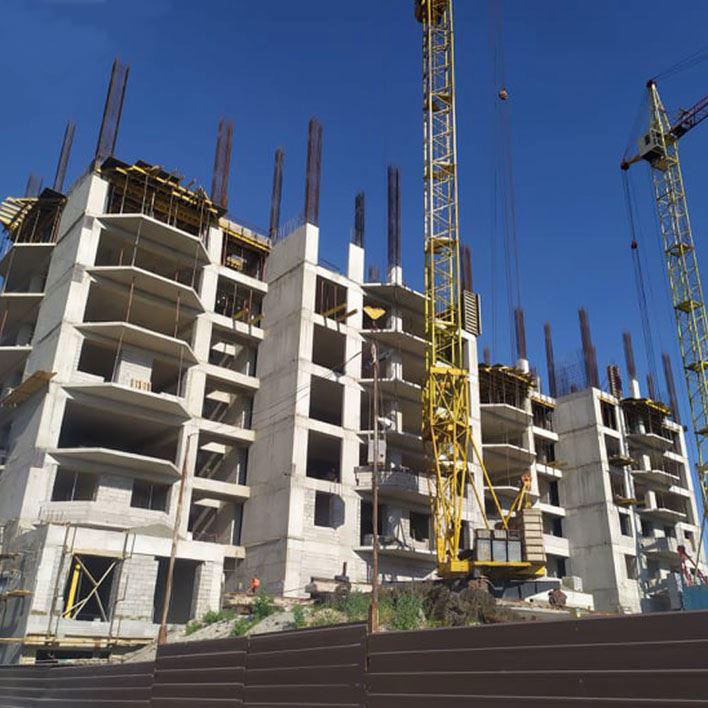 Multi-storey residential building in Yerevan.